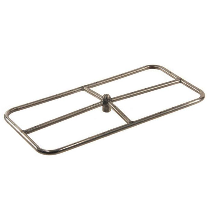 Hearth Products Controls Rectangle Stainless Steel Fire Pit Burner, 36x18-Inch, Propane