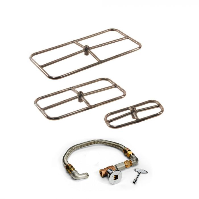 Hearth Products Controls FPS Rectangle Match Light Gas Fire Pit Kit