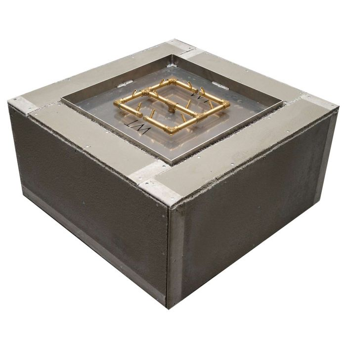 Warming Trends Ready-to-Finish Square Fire Pit Kit, 36x36-Inch
