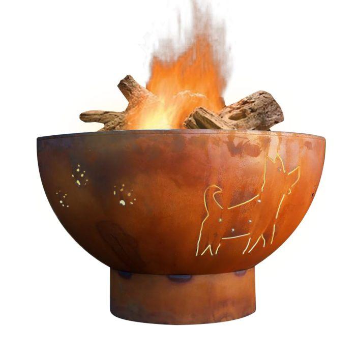 Fire Pit Art Funky Dog Wood Fire Pit