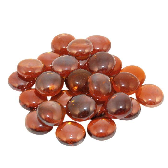 Real Fyre GLG-10-A Deep Amber Fyre Gems, 10 Pounds