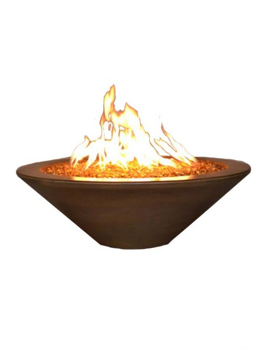 Fire by Design MGAPGREFP48NG Geo Round Essex 48-Inch Fire Pit Table