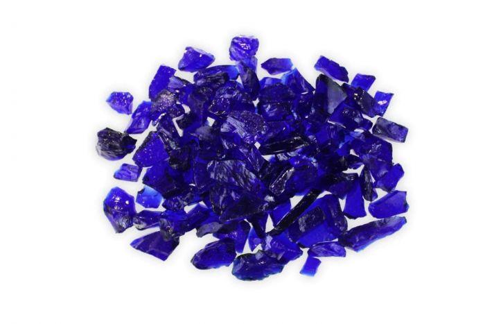 Firegear GT-DARK-BLUE  5-Pound Broken Large Fire Glass, 1/2 to 3/4-inch, Dark Blue