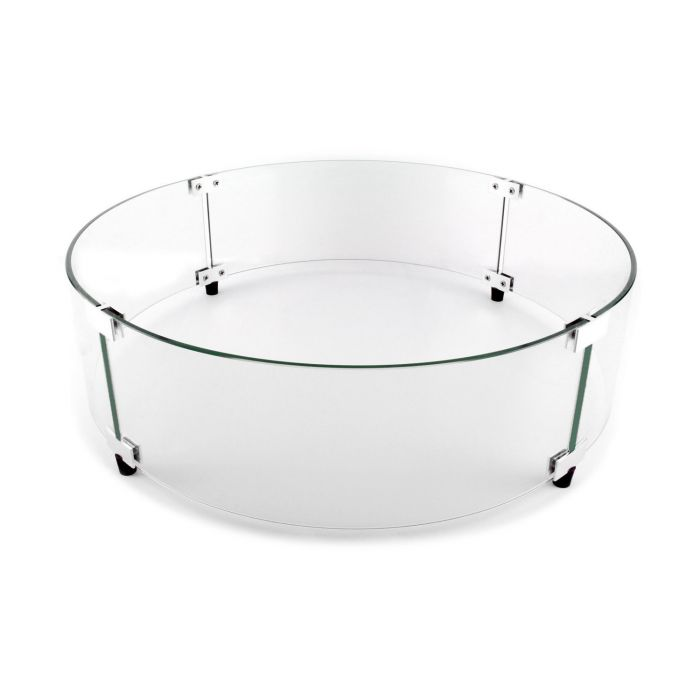 The Outdoor GreatRoom Company GG-25-R Glass Guard for 25-inch Burner, Round, 26-inch Diameter