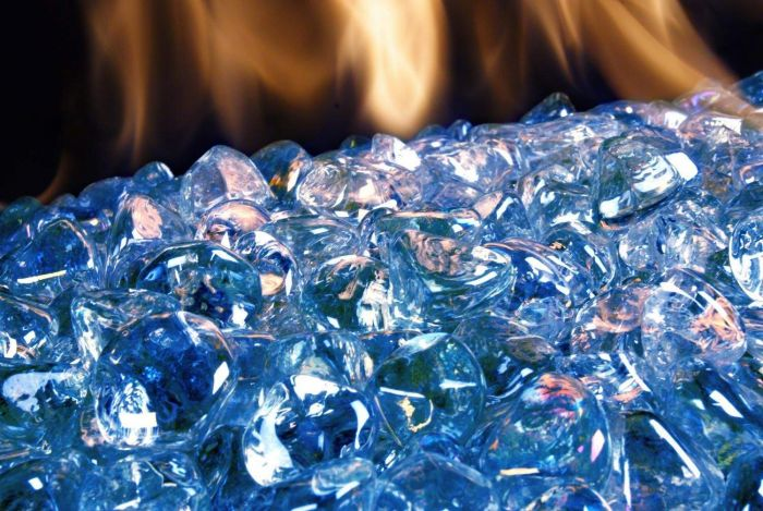 American Fyre Designs Steel Blue Diamond Nugget Fire Glass