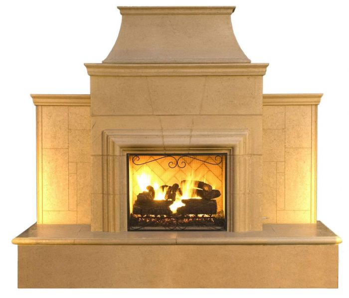 American Fyre Designs Grand Cordova Outdoor Gas Fireplace