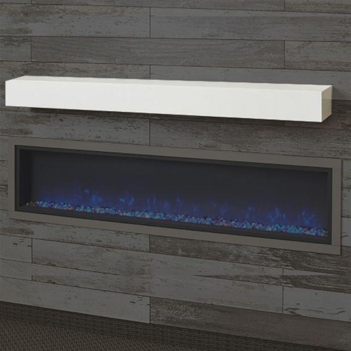 GreatCo GWM White Supercast Wood Mantel