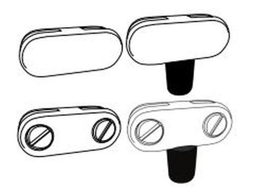 Firegear GWS-BRACKET-S Glass Wind Guard Corner Bracket Set, 8-Pieces