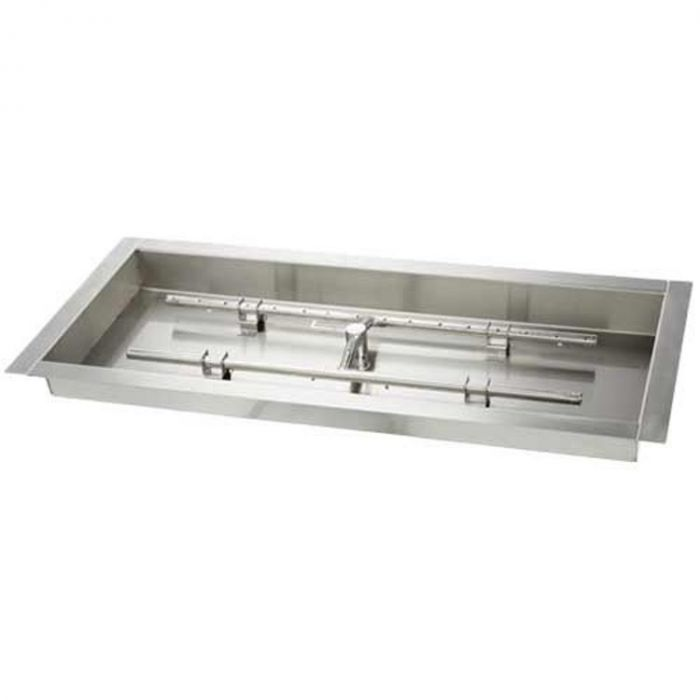 Hearth Products Controls Stainless Steel Fire Pit H Burner Pan - Burner Included