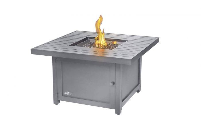 Napoleon HAMP2-GY Hamptons Grey Gas Fire Table, Square