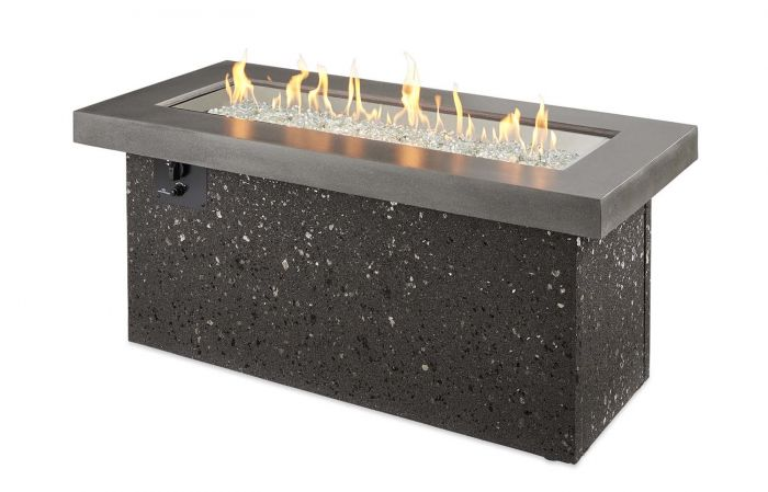 The Outdoor GreatRoom Company KL-SC Key Largo Fire Pit, Supercast, 25.5x54-Inches