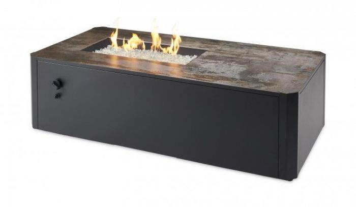 The Outdoor GreatRoom Company KN-1224 Kinney Gas Fire Pit Table, 55.13x27.63-Inches