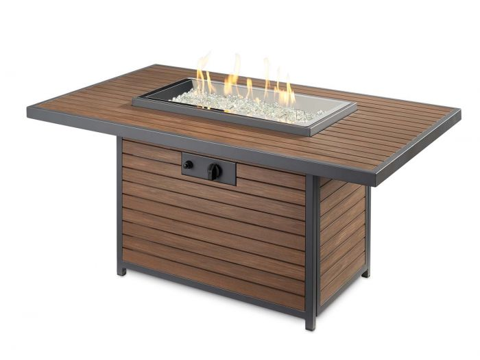 The Outdoor GreatRoom Company KW-1224-19-K Kenwood Gas Fire Pit Table, 30.75x50-Inches