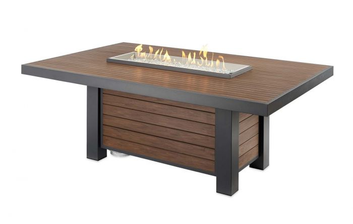 The Outdoor GreatRoom Company KW-1242-K Kenwood Gas Fire Pit Table, 80.75x50.5-Inches