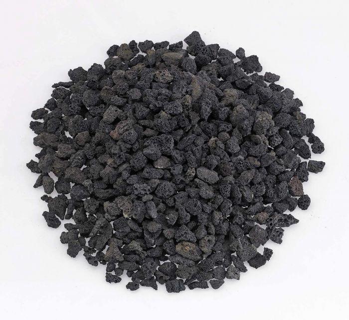 American Fireglass 10-Pound Black Lava Rock, Small .25-.5 Inch