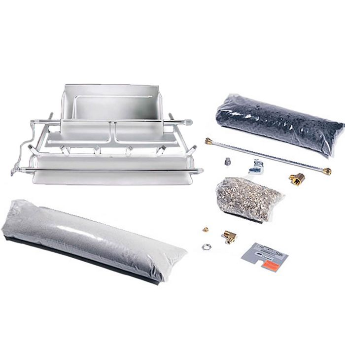 Rasmussen LD TimberFire Series Stainless Steel Multi-Burner and Grate Kit