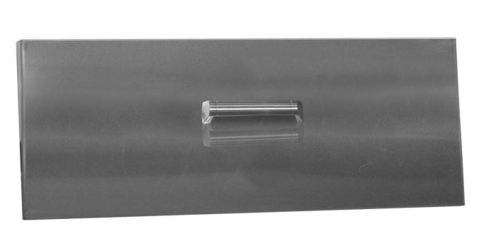 Firegear LID-LOF48LH Stainless Steel Burner Cover with Brushed Finish, Linear, 50.75x16.75-Inch
