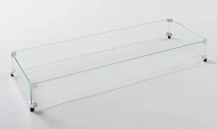 American Fyre Designs 8204-WG Rectangular Glass Wind Guard for Comopolitan, Rectangular and Nest