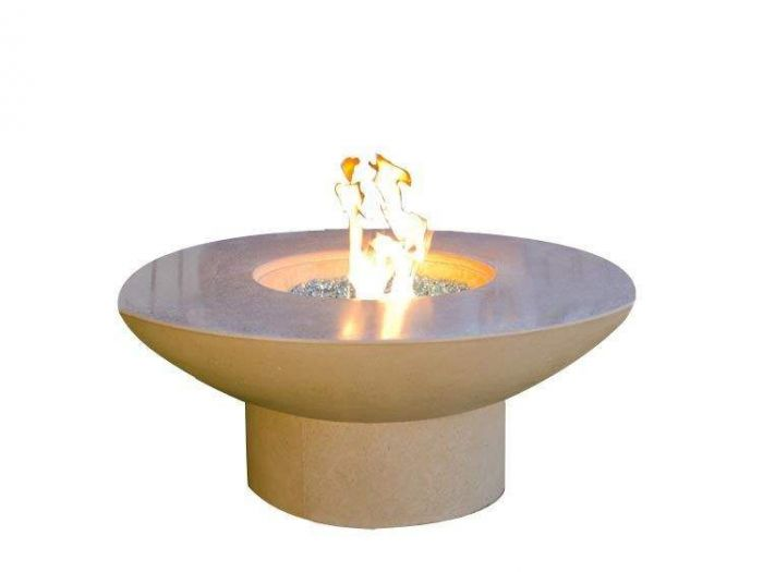 American Fyre Designs Lotus Chat Height Fire Table