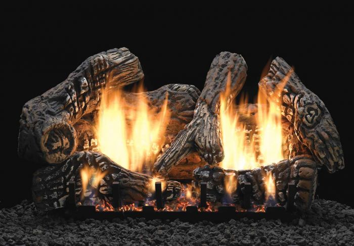 White Mountain Hearth LSxxC2S Ceramic Fiber Super Charred Oak Gas Logs Only