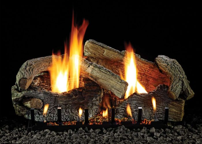 White Mountain Hearth LSxxRAO Refractory Aged Oak Gas Logs Only