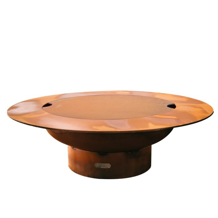 Fire Pit Art Magnum Wood Fire Pit with Lid