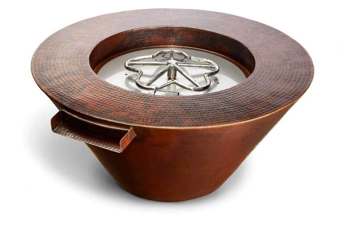 Hearth Product Controls Mesa Hammered Copper Fire and Water Pit