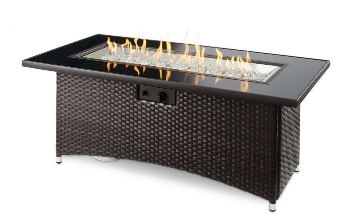 The Outdoor GreatRoom Company MG-1242-BLSM-K Montego Gas Fire Table, Balsam, 30x59.25-Inches