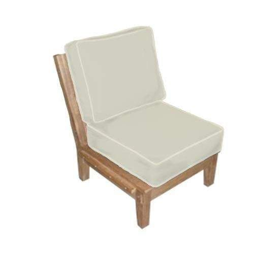 Royal Teak Collection MIAINS Miami Teak Sectional Chair Insert, Frame Only (Cushions Not Included)