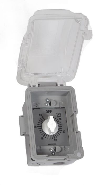 Fire by Design MTMER Mechanical Wind Up Timer with Exterior Grade Single Gang Box and Bubble Cover