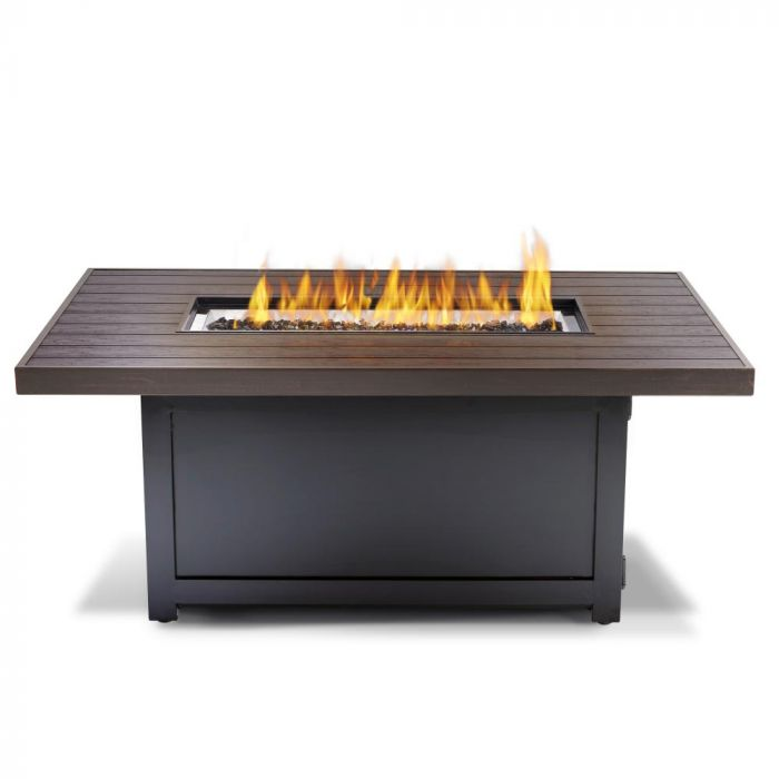 Napoleon MUSK1-BZ Madrid Bronze Gas Fire Table, Rectangular