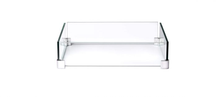 Napoleon Glass Wind Screen for GPFTS48 & KENS2 Fire Tables, 28.25 x 28.25-inches