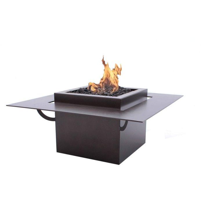 FlameFX Newport Fire Table, Copper Vein