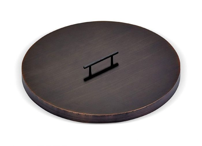 American Fireglass Fire Pit Oil Rubbed Bronze Burner Cover, Round, 22 Inch