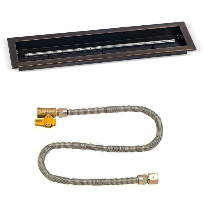 American Fireglass Match Light Fire Pit Kit, Tough Pan, 36x6 Inch, Natural Gas (NG)