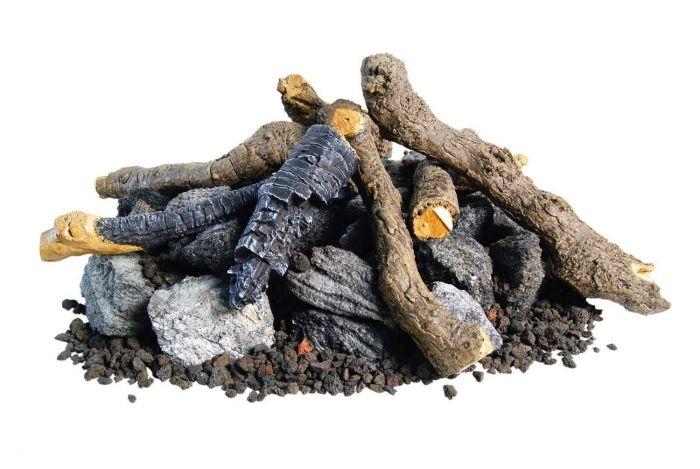 American Fyre Designs OCBW-34 Beachwood Logs with Stones