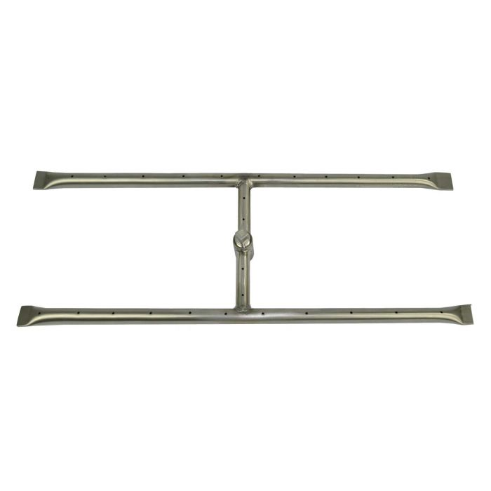 The Outdoor Plus OPT-18x Stainless Steel Rectangular H-Shaped Gas Fire Pit Burner