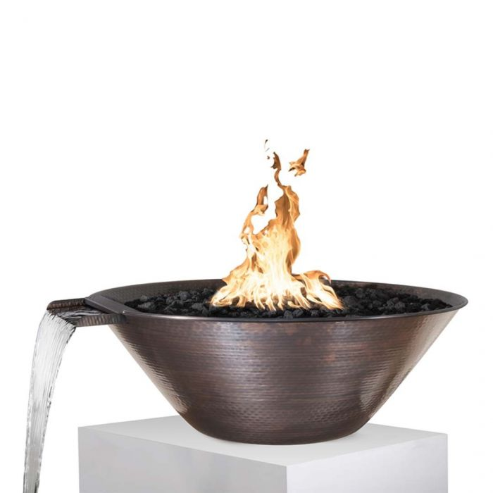 TOP Fires by The Outdoor Plus OPT-31RCFWxx Remi Copper Fire and Water Bowl