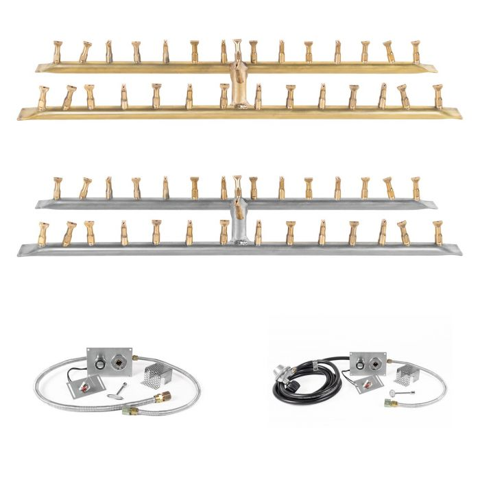 The Outdoor Plus OPT-BxxBH-SPARK Linear H-Style Bullet Spark Ignition Gas Fire Pit Burner Kit