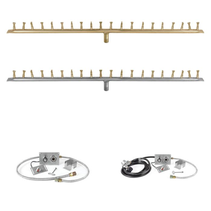 The Outdoor Plus OPT-BxxBT-SPARK Linear Bullet Spark Ignition Gas Fire Pit Burner Kit