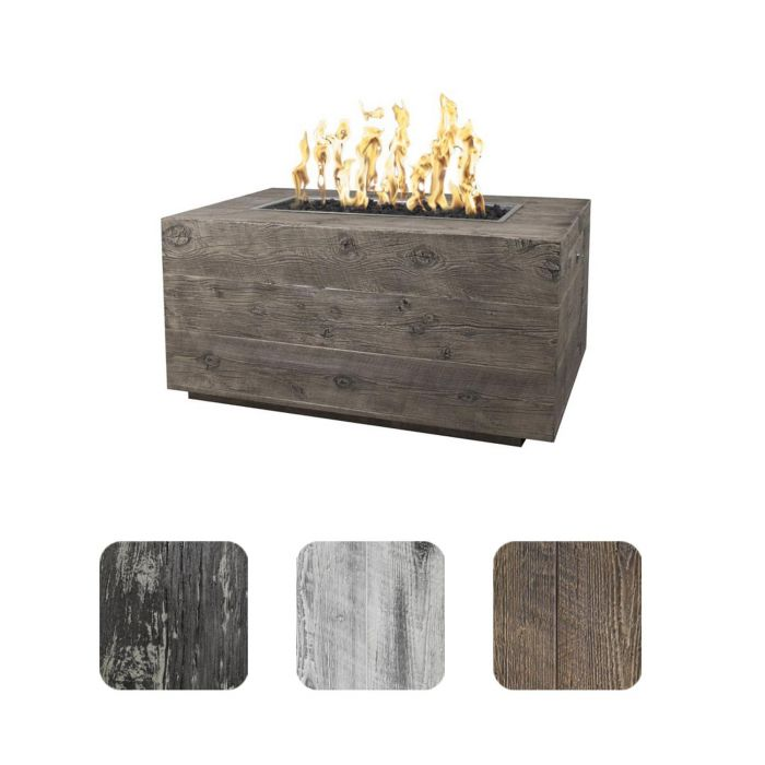 TOP Fires by The Outdoor Plus OPT-CTL60x Catalina Wood Grain Fire Pit
