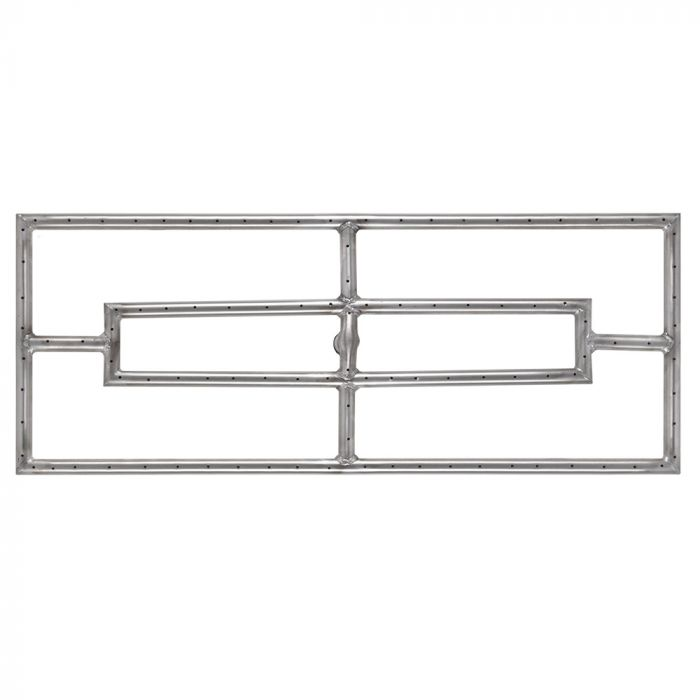 The Outdoor Plus OPT-DR1xxx Stainless Steel Double Rectangle Gas Fire Pit Burner