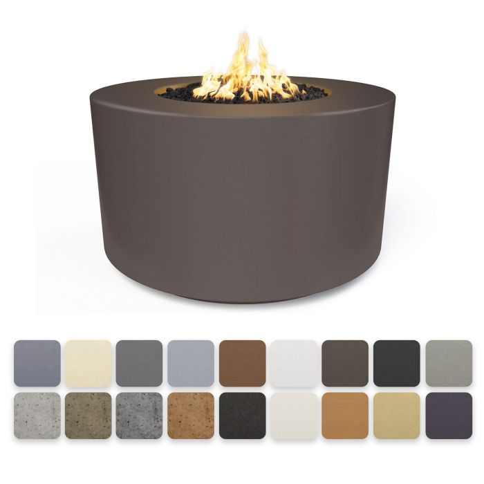 TOP Fires by The Outdoor Plus OPT-FL4224x Florence Concrete Fire Pit - Tall