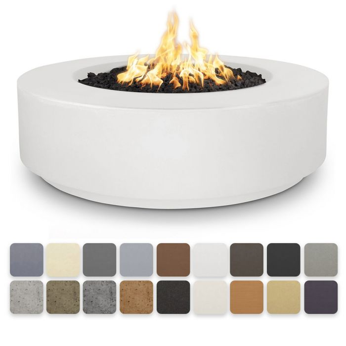 TOP Fires by The Outdoor Plus OPT-FL4x Florence Concrete Fire Pit - Low Profile