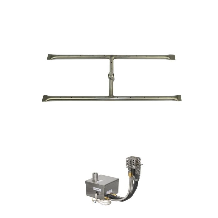The Outdoor Plus OPT-REFD12xxEKIT Linear H-Style Electronic Ignition Gas Fire Pit Burner Kit
