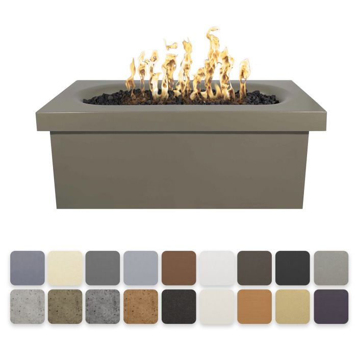 TOP Fires by The Outdoor Plus OPT-RMNRT60x Ramona Linear Concrete Fire Pit