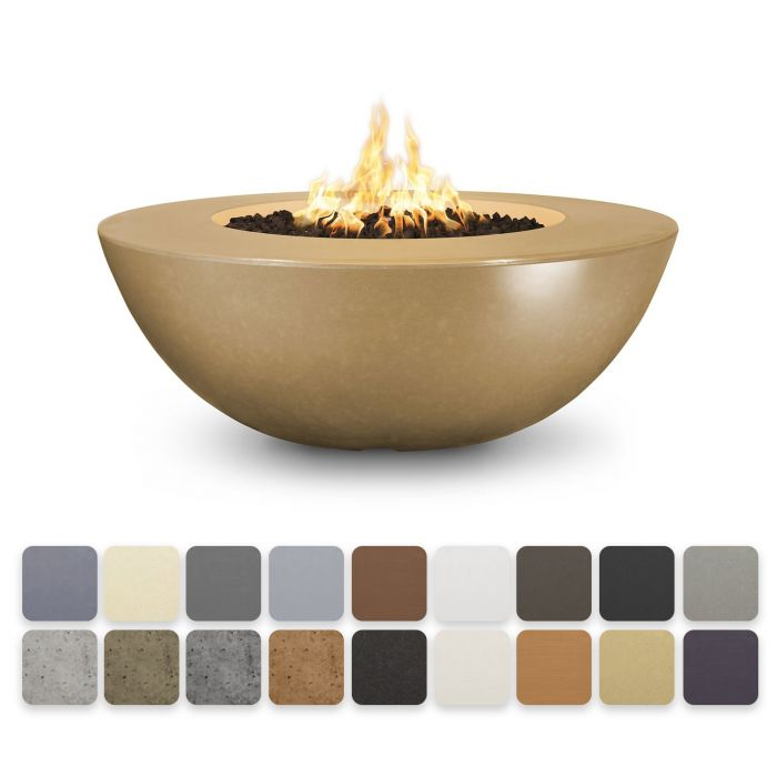 TOP Fires by The Outdoor Plus OPT-SEDWLxx Sedona Concrete Fire Pit - Wide Ledge
