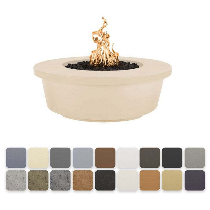 TOP Fires by The Outdoor Plus OPT-TEM48x Tempe Concrete Fire Pit