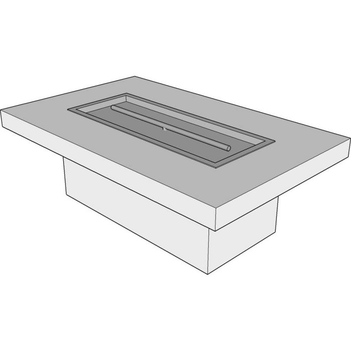 The Outdoor Plus OPT-URST7216 Ready-to-Finish Rectangle Fire Pit Table Kit, 72x30-Inch