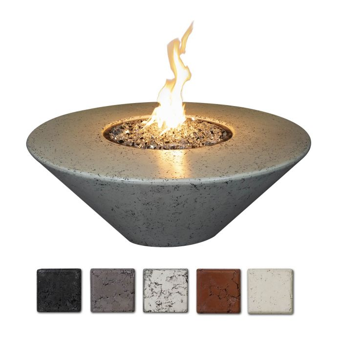 Athena ORFT-44D Olympus Round Concrete Gas Fire Pit, 48-Inch